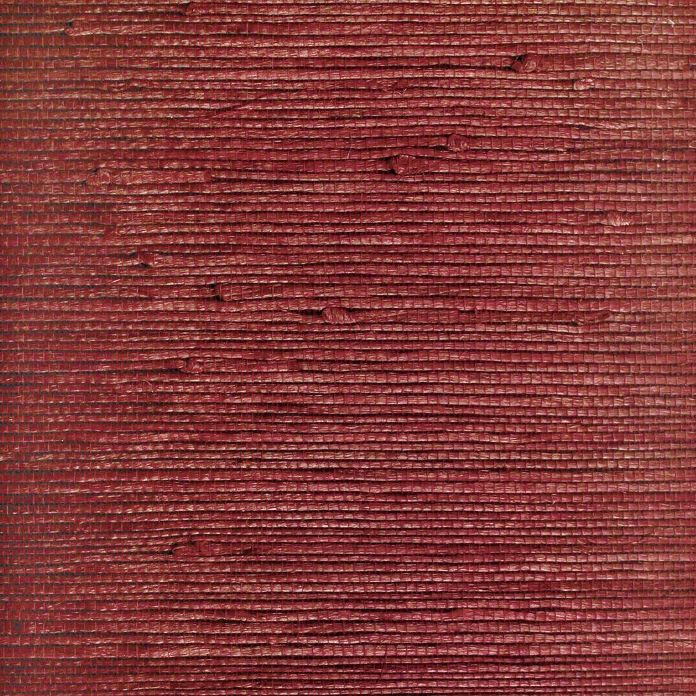 The Wallpaper Company 72 sq. ft. Red Textured Grasscloth Wallpaper-DISCONTINUED