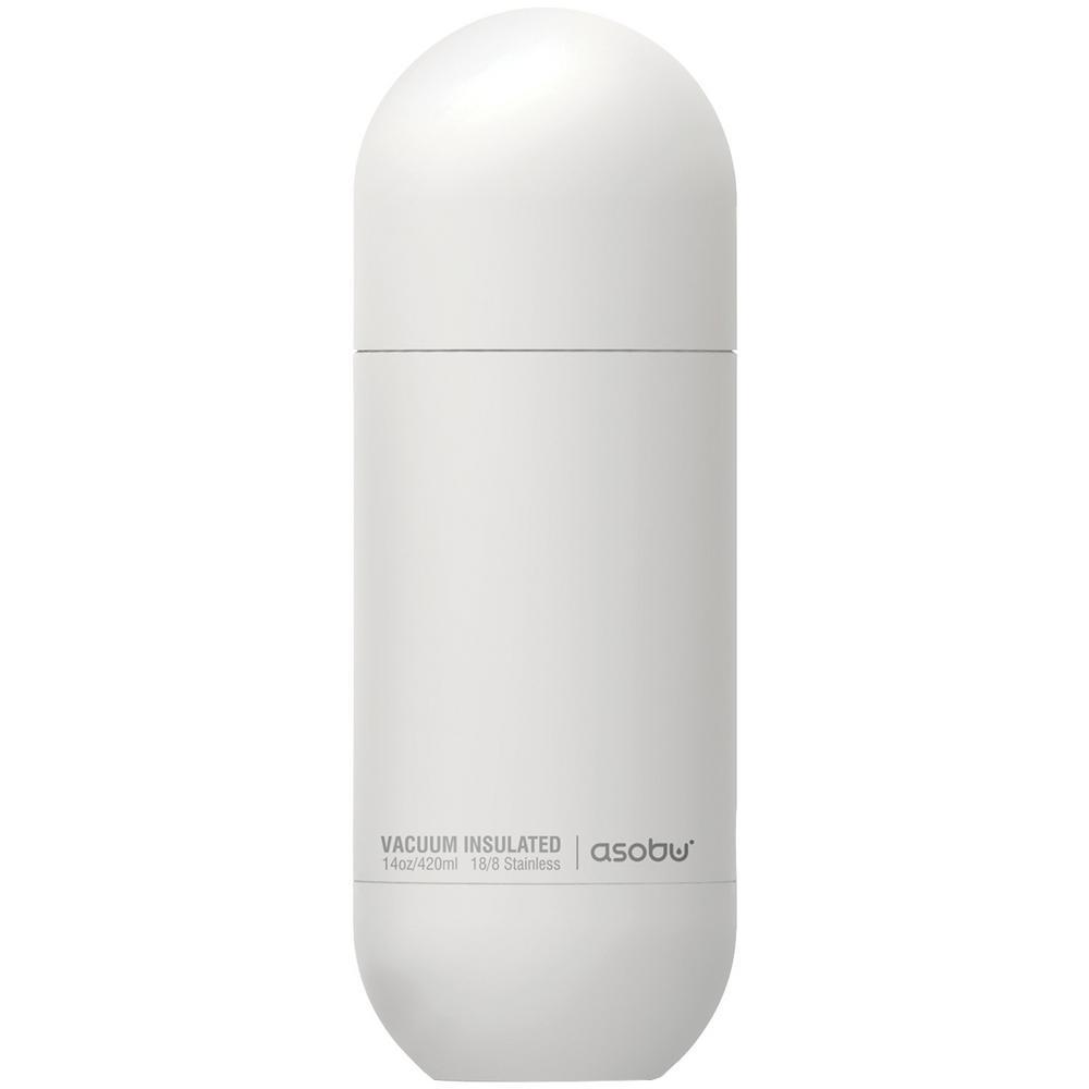 14 oz. Stainless Steel White Orb Water Bottle