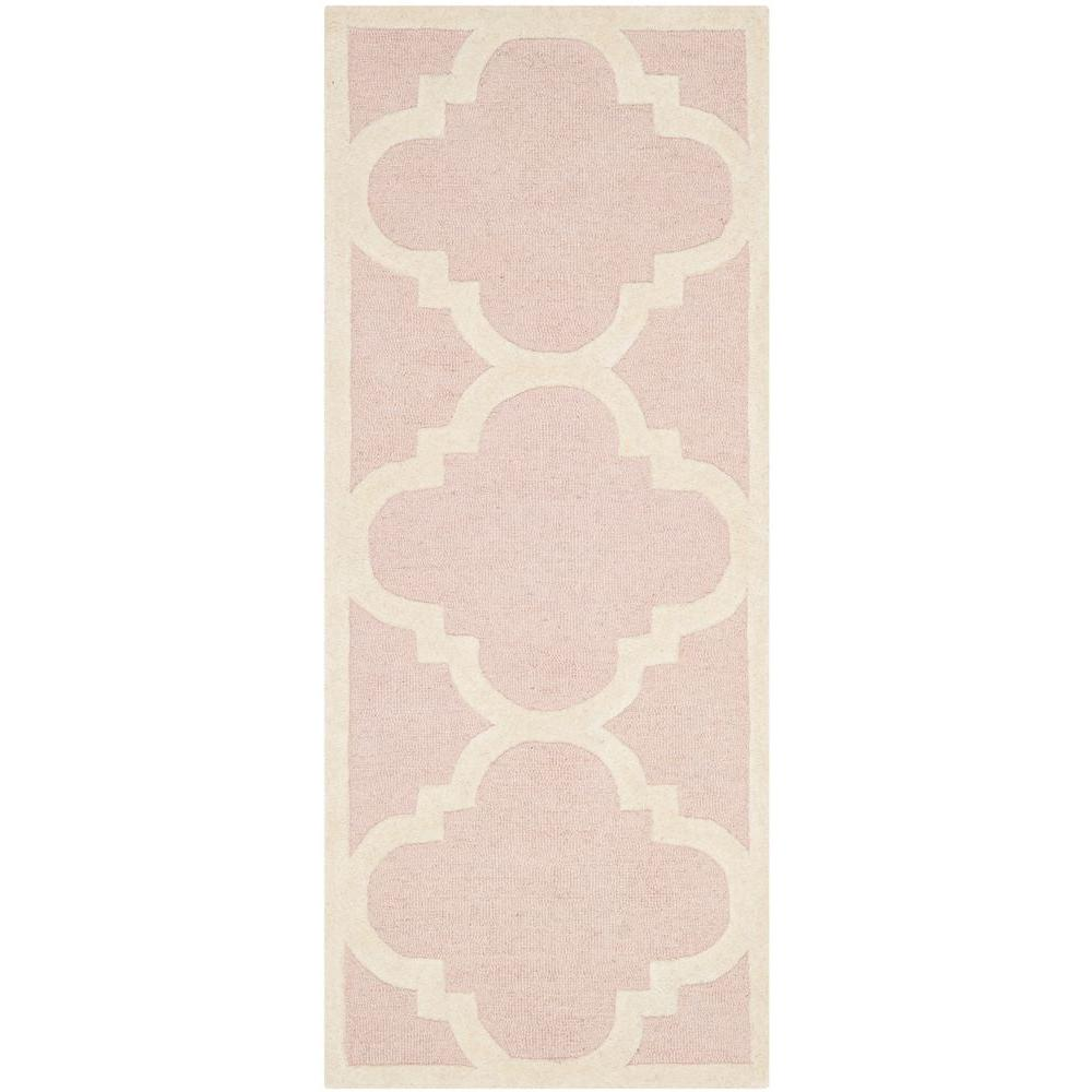 Safavieh Cambridge Light Pink/Ivory 2 ft. 6 in. x 6 ft. Runner