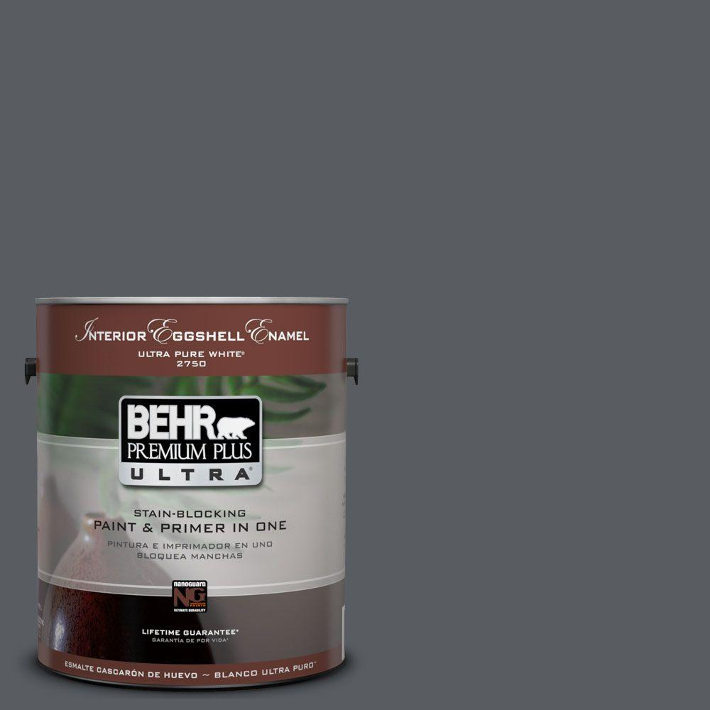 BEHR Premium Plus Ultra 1-Gal. #UL260-22 Pencil Point Interior Eggshell Enamel Paint