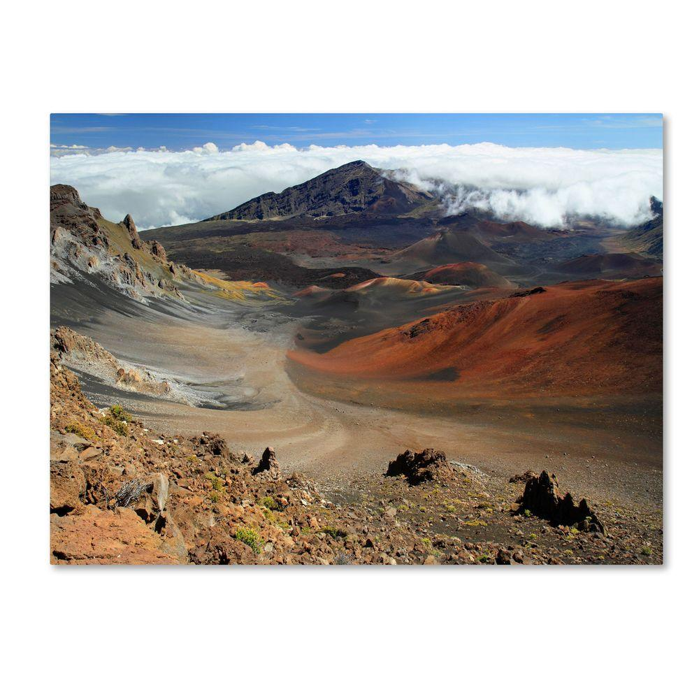 14 in. x 19 in. Haleakala Maui Canvas Art