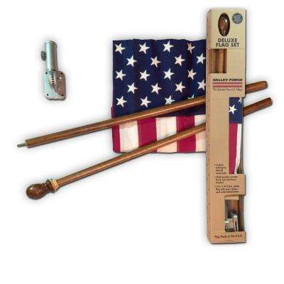 2-1/2 ft. x 4 ft. Cotton U.S. Flag Kit