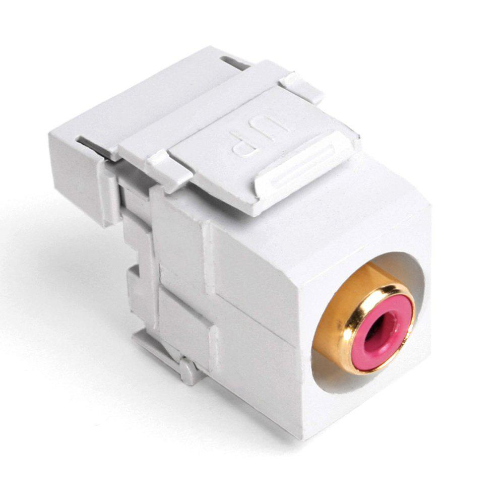 QuickPort RCA 110-Type Connector with Red Barrel, White