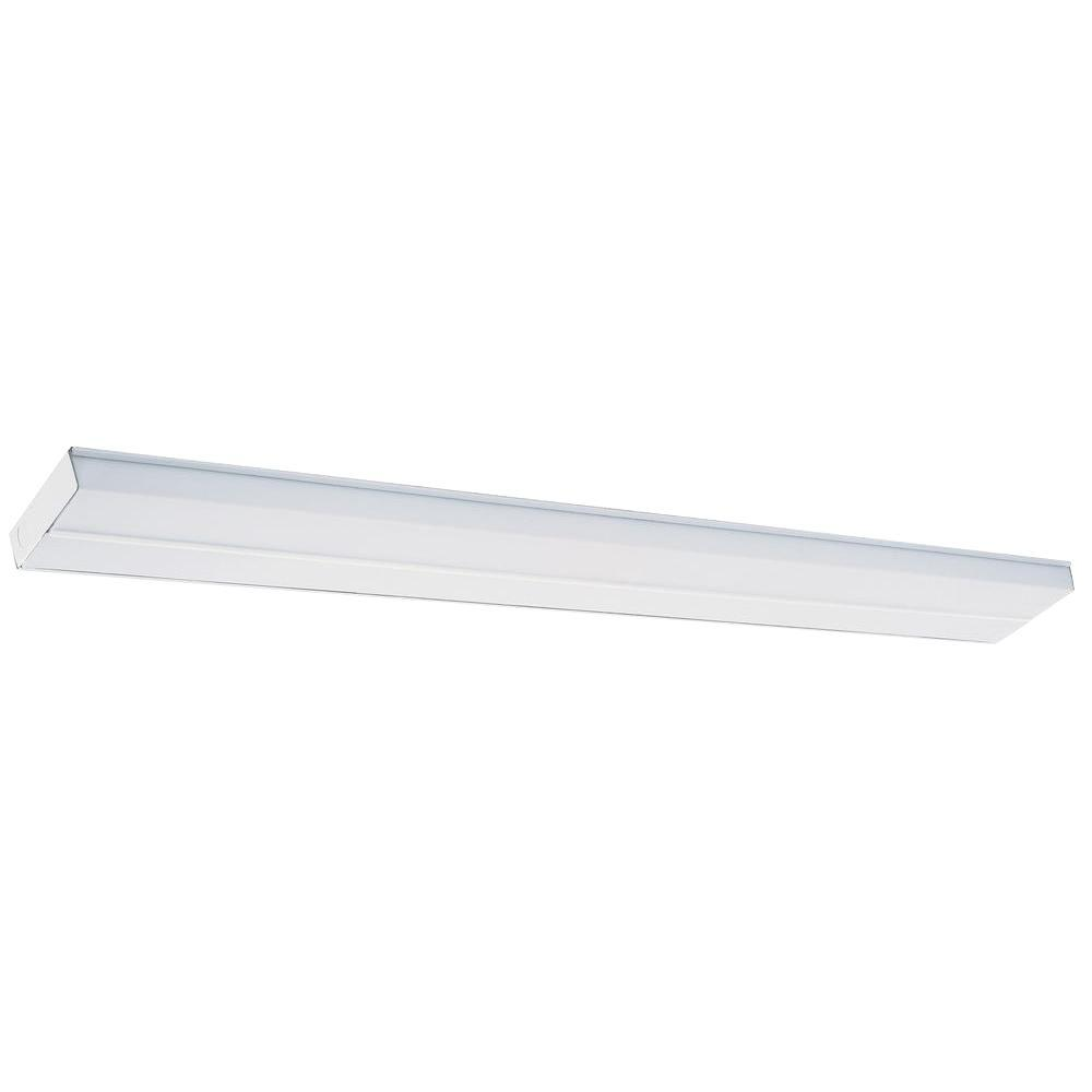 Fluorescent Light Fixtures Home Depot: Lithonia Lighting 4 Ft. T12 Fluorescent Cabinet Light-2UC