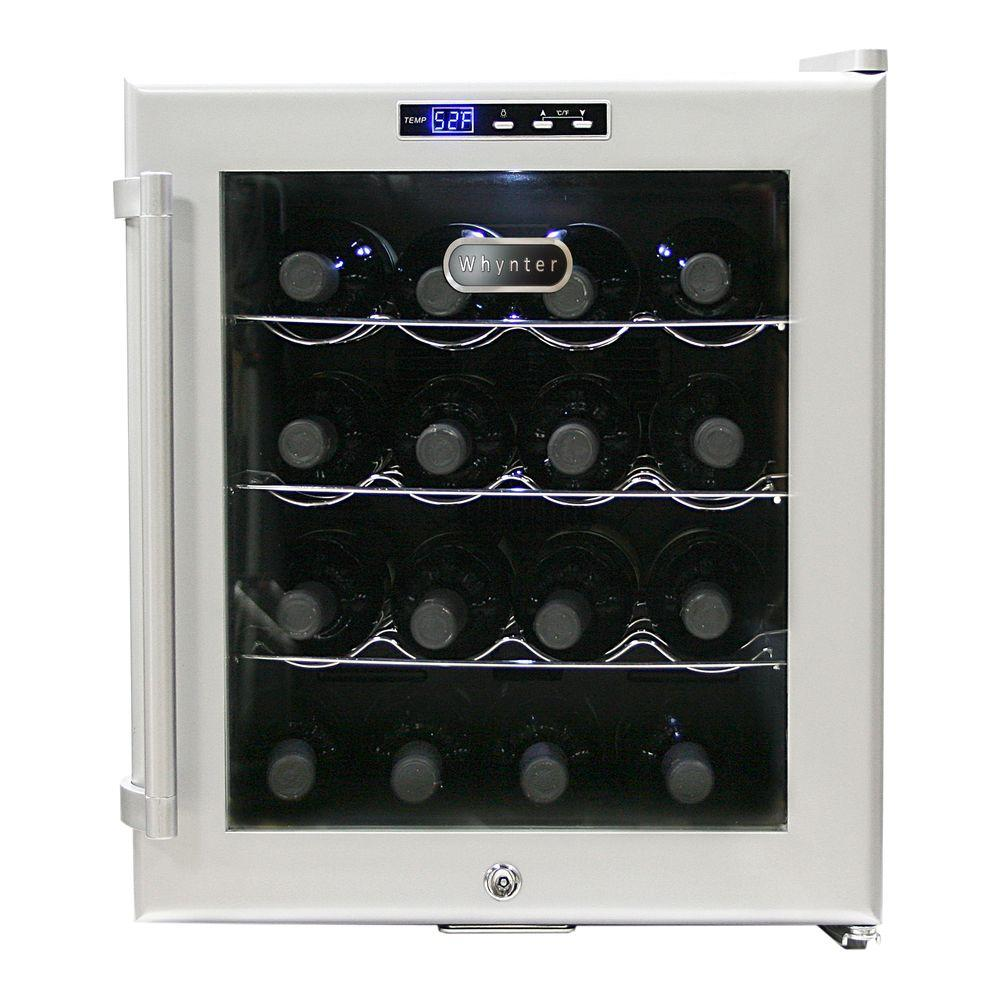 Whynter 16-Bottle Thermoelectric Wine Cooler, Grey