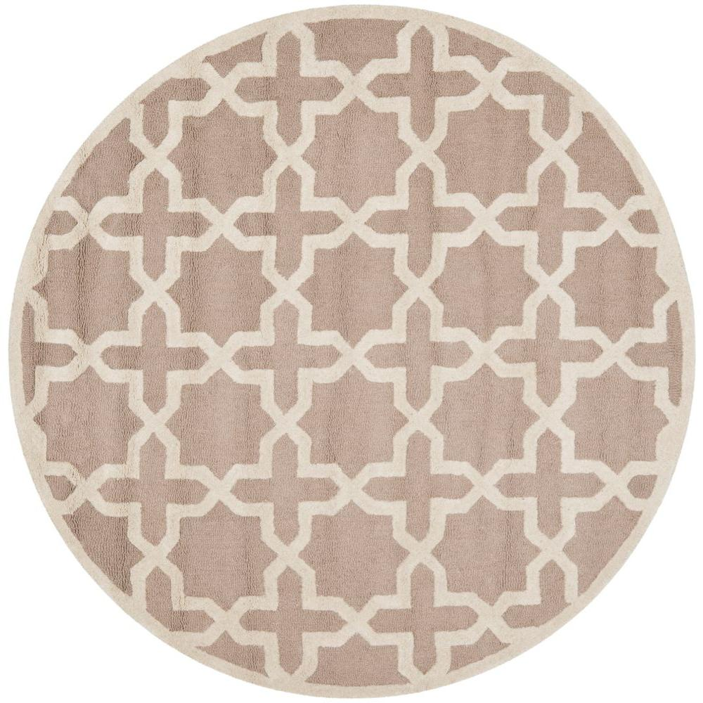 Cambridge Beige/Ivory 10 ft. x 10 ft. Round Area Rug