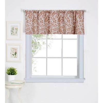 Serene 60 in. W x 15 in. L Cotton Single Window Curtain Valance in Spice