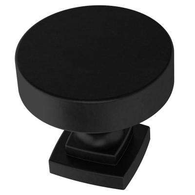 Classic Bell 1-1/4 in. (32mm) Matte Black Cabinet Knob