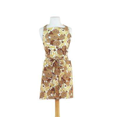 Fall Garden Retro Print Cotton Butcher's Apron