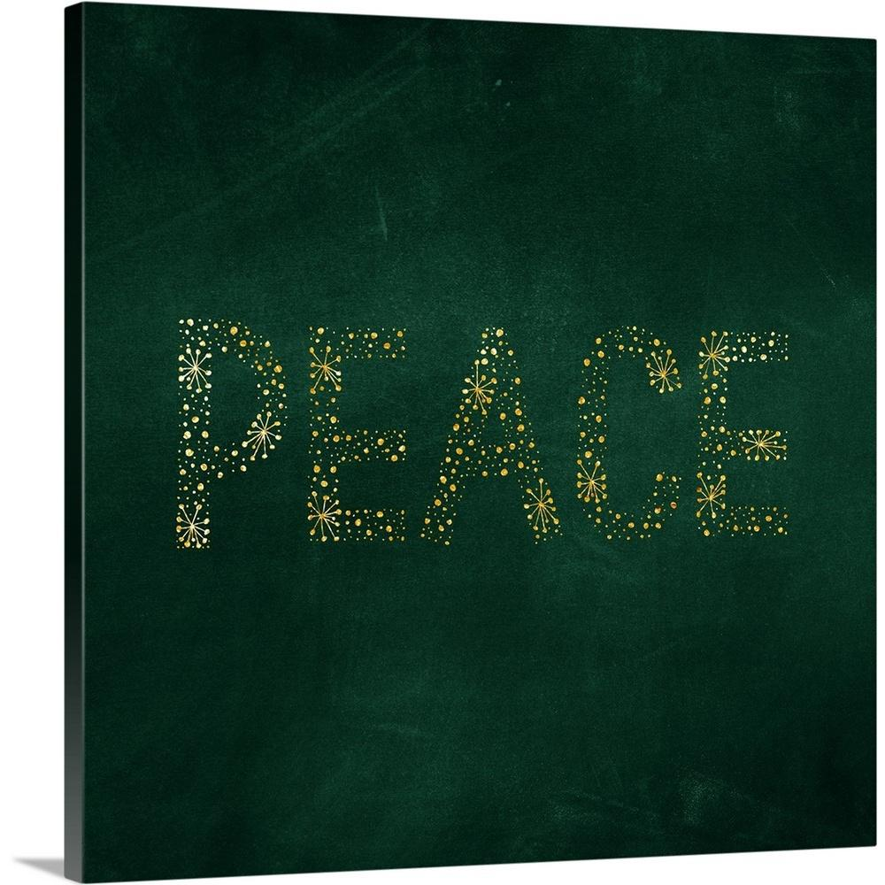 """Peace Starburst - Green"" by Inner Circle Canvas Wall Art"