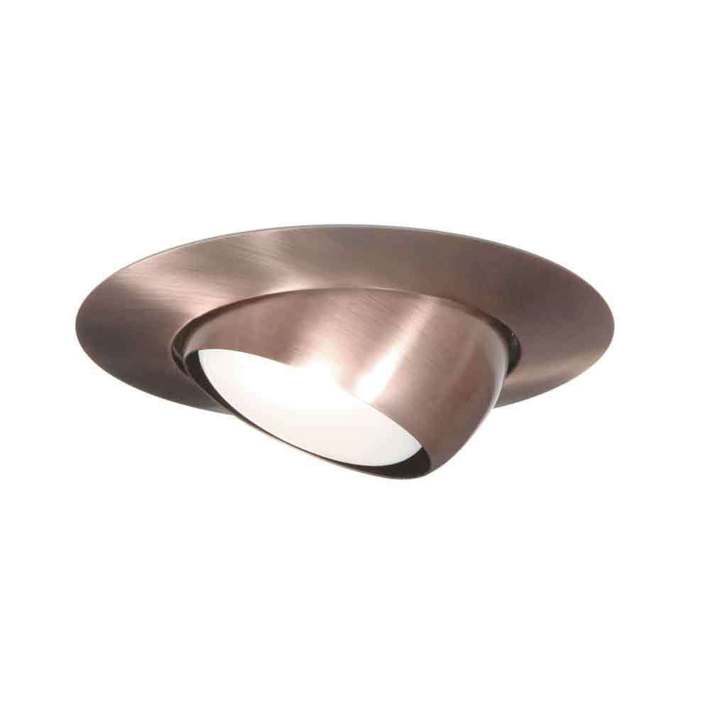 Halo 78 series 6 in white recessed ceiling light trim with halo 78 series 6 in white recessed ceiling light trim with adjustable eyeball 78p the home depot mozeypictures Image collections