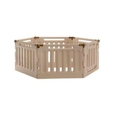 Low 6-Panel Plastic Convertible Indoor/Outdoor Pet Playpen