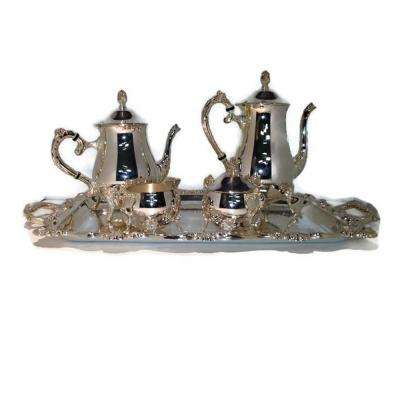 5-Piece Silver Plated Tea and Coffee Set