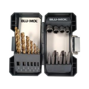 BLU-MOL Titanium Drill Bit and Drive Set (24-Piece) by BLU-MOL