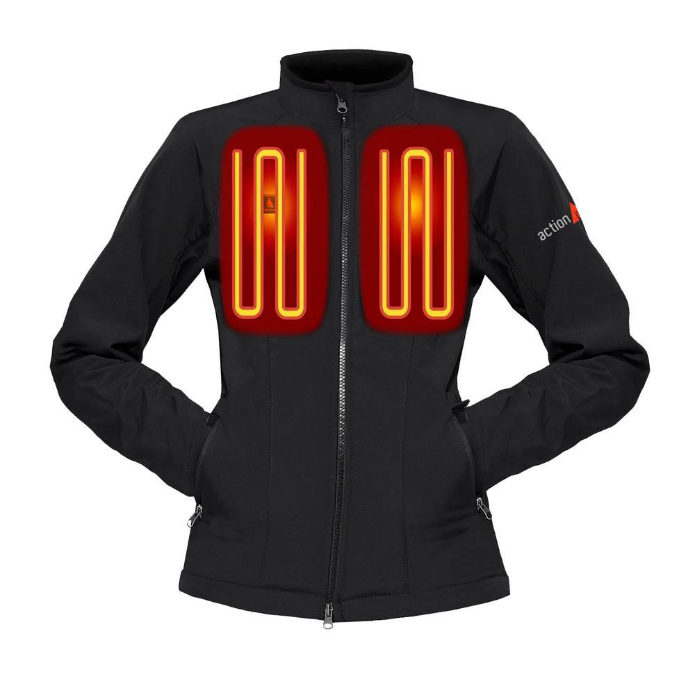 Women's Medium Black Softshell 5-Volt Heated Jacket
