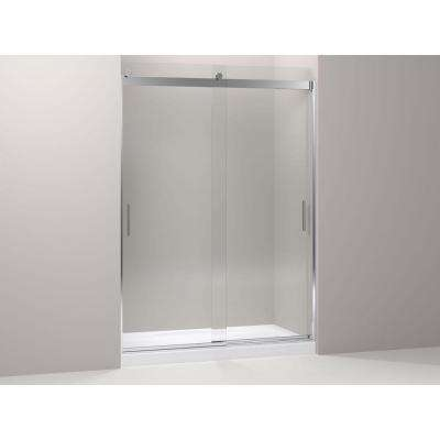 Levity Rear Sliding Glass Panel and Assembly Kit in Bright Polished Silver