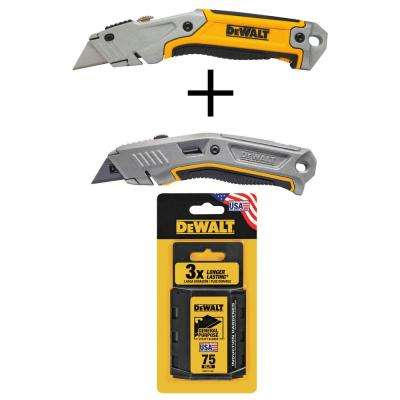 Hand Tool Combo (Features 2 Utility Knives and 75-Pack Blades, 3-Piece)