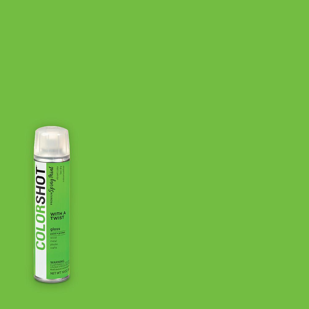 COLORSHOT 10 oz. Gloss With A Twist Lime General Purpose Aerosol Spray Paint