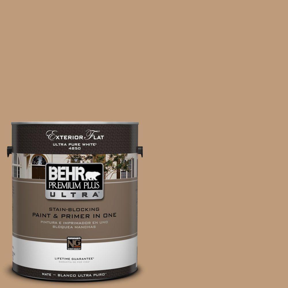 BEHR Premium Plus Ultra 1-Gal. #UL140-20 Teatime Flat Exterior Paint