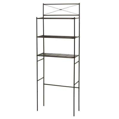 23.25 in. W x 64.7 in. H Cross-Style Space Saver in Bronze