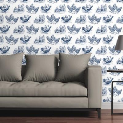 Chickens by Circle Art Group Removable Wallpaper Panel