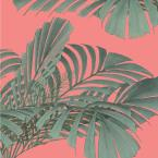 Mitchell Black Debut Collection Floating Palms in Dusty Pink Removable and Repositionable Wallpaper