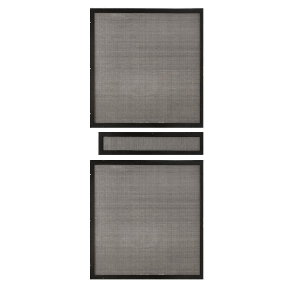 Unique Home Designs 36 in. x 80 in. Insect Screen Inserts for Premium Steel Security Picket Doors (3-Piece)