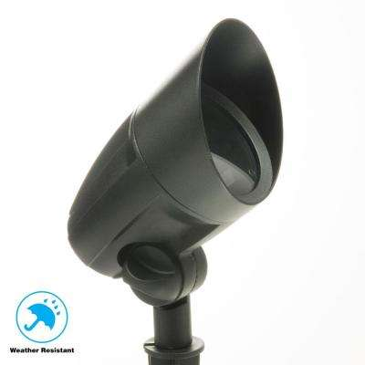 Low-Voltage 50-Watt Black Outdoor Halogen Landscape Flood Light