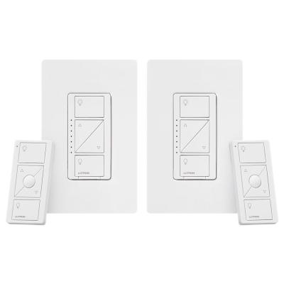 Caseta Wireless Smart Lighting Dimmer Switch and Remote Kit for Wall and Ceiling Lights (2-Pack)
