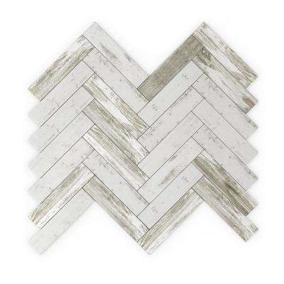 Take Home Sample - Rustica Gray 4 in. X 4 in. Metal Peel and Stick Wall Mosaic Tile (0.11 sq.ft/Each)
