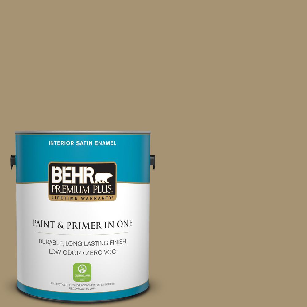 1 gal. #ICC-78 Earthenware Satin Enamel Zero VOC Interior Paint and