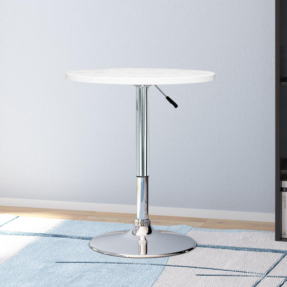 Corliving adjustable height white swivel round bar table daw 510 t corliving adjustable height white swivel round bar table watchthetrailerfo