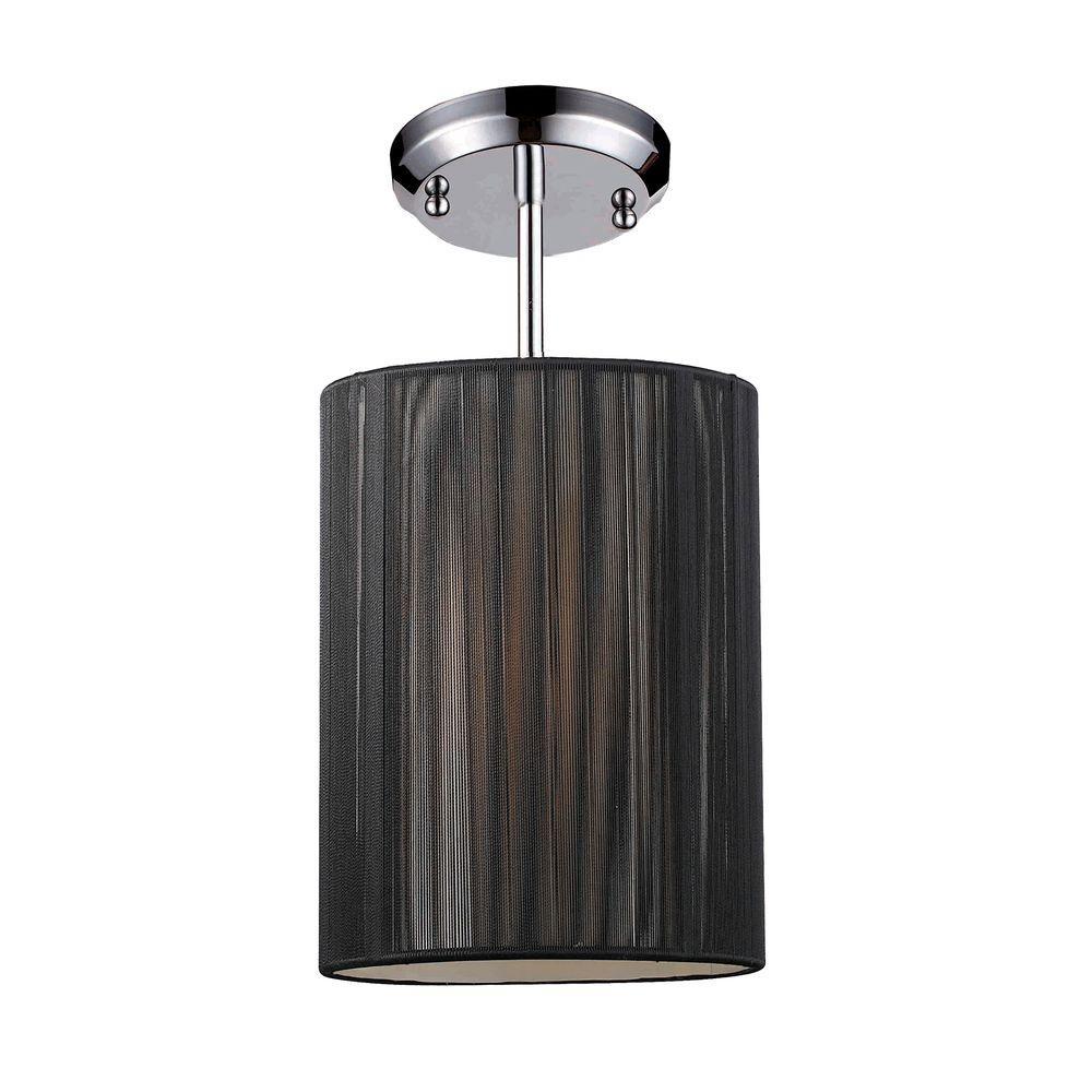 Tulen Lawrence 1-Light Chrome Incandescent Ceiling Mini Pendant