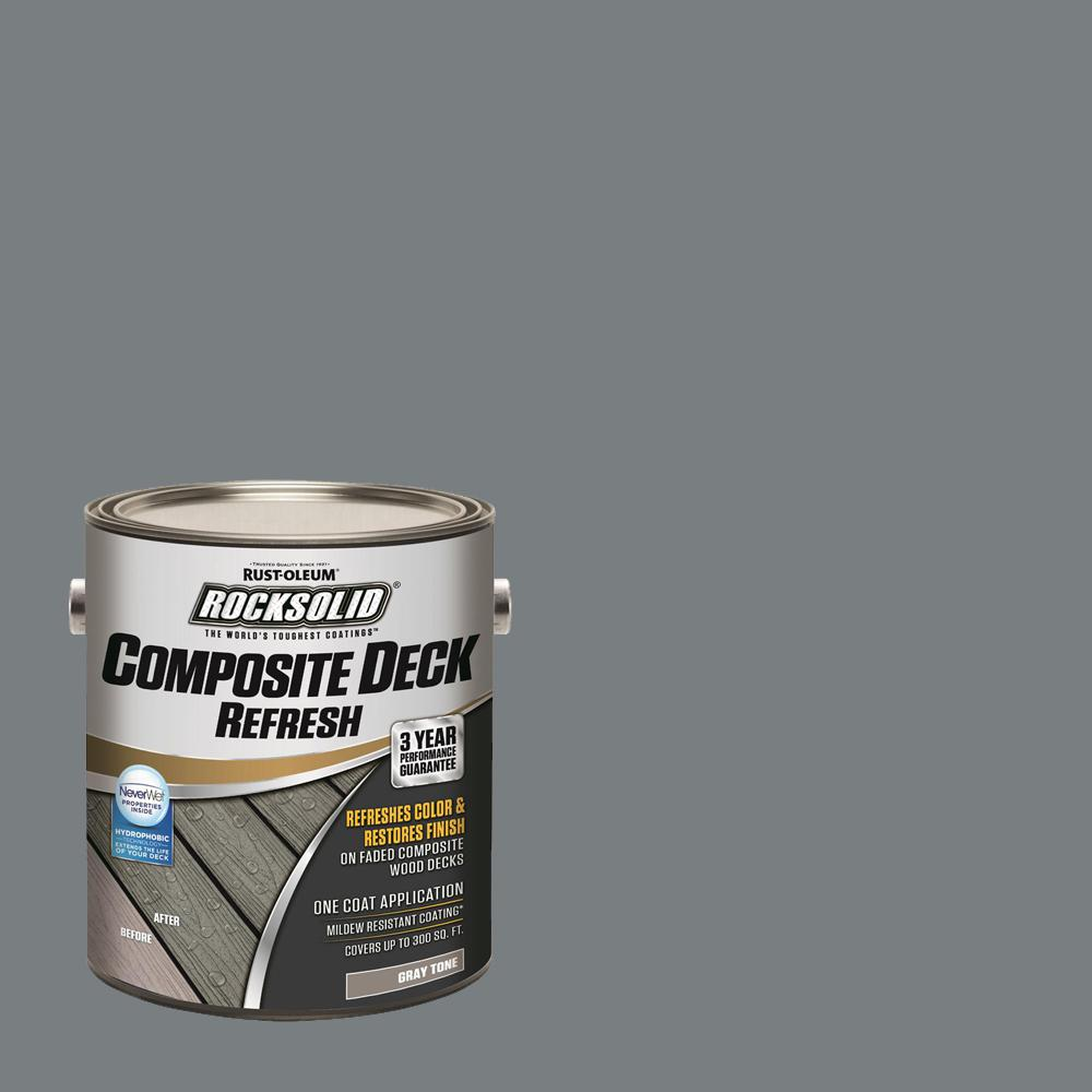 Rust-Oleum RockSolid 1 gal. Gray Composite Deck Coating