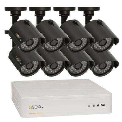 8-Channel 720p 100 ft. Night Vision 1TB Video Surveillance System with 8 HD Cameras