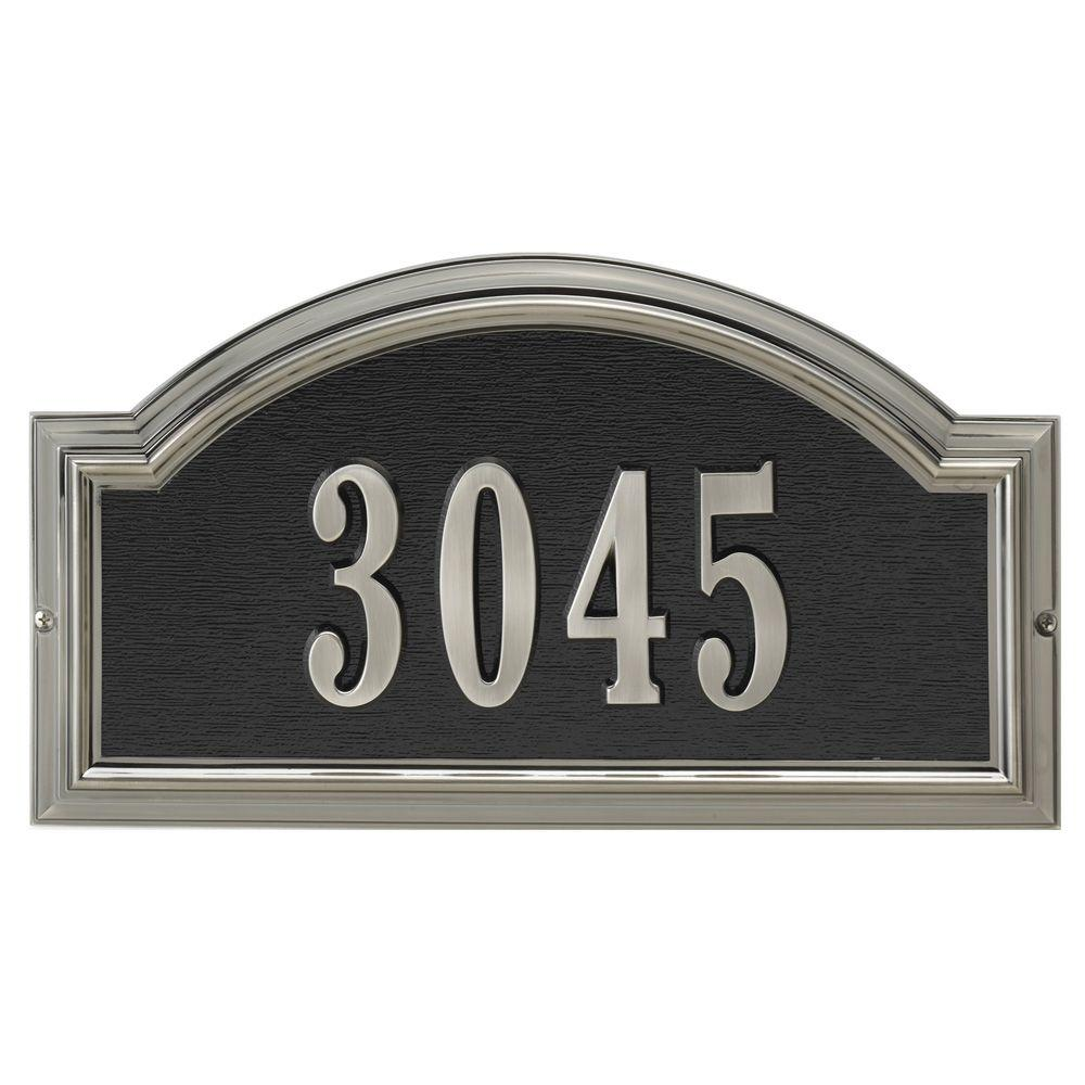 Whitehall Products Brushed Nickel Arch Plaque