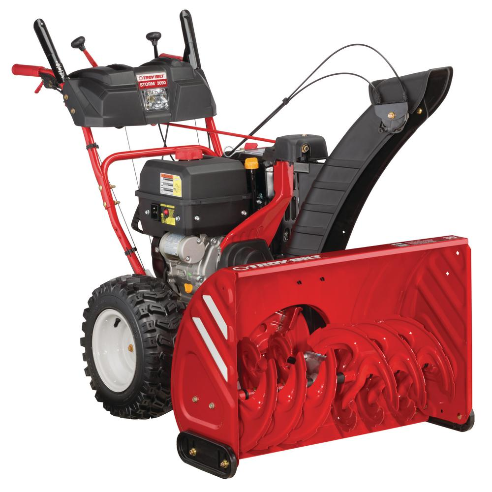 Troy-Bilt Storm 30 in  357cc Two-Stage Electric Start Gas Snow Blower with  Power Steering and Heated Grips