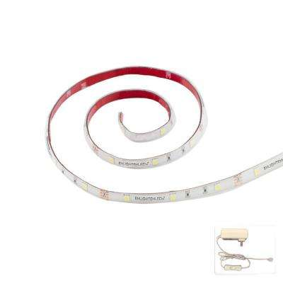 36 in. LED Ultra Cool White Flexible Linkable Strip and 2-Amp Power Supply Complete Kit