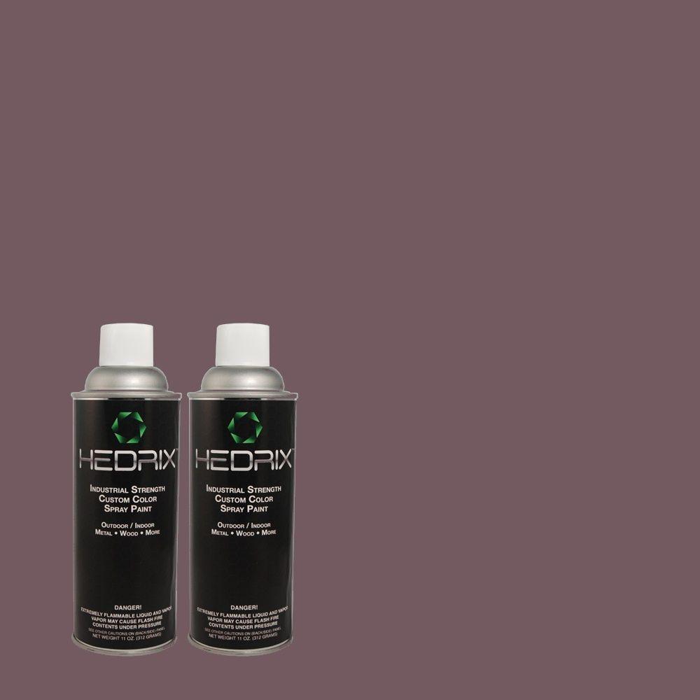 Hedrix 11 oz. Match of PPU17-4 Darkest Grape Flat Custom Spray Paint (8-Pack)