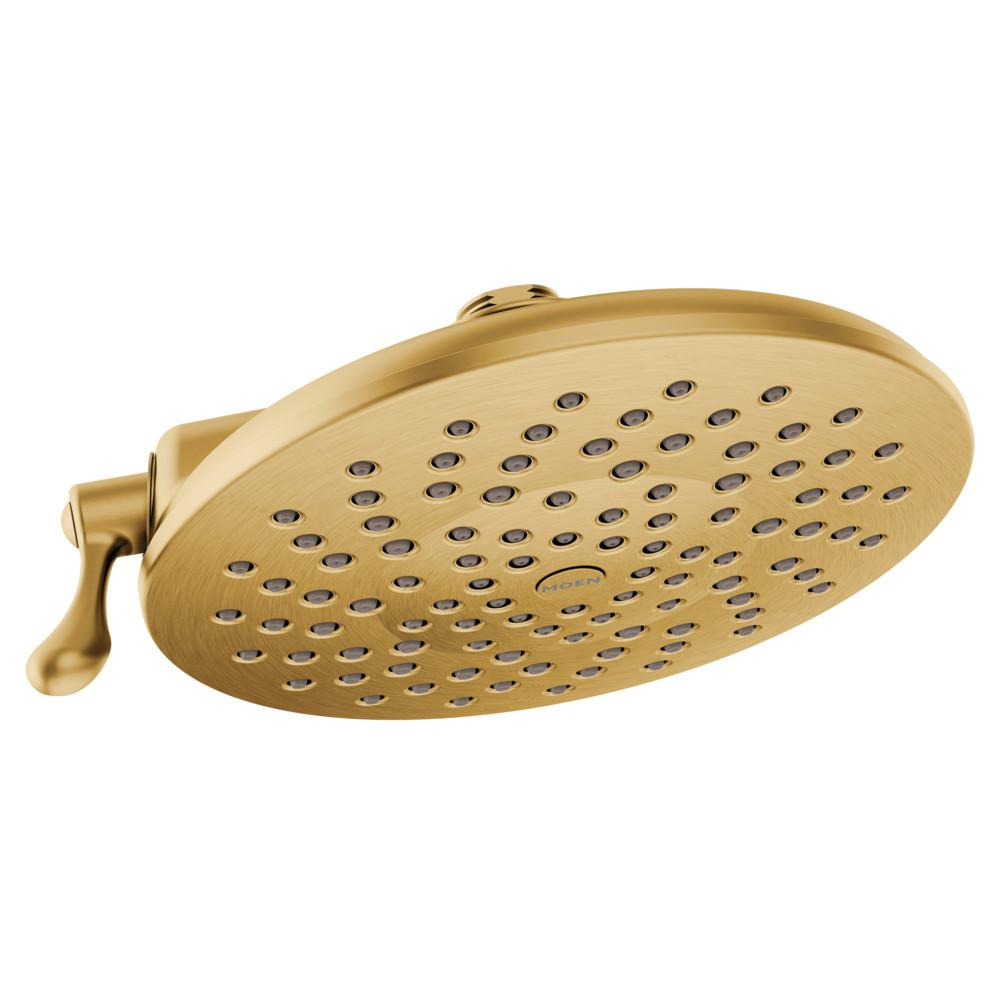 MOEN Velocity 2-Spray 8 in. Rainshower Showerhead Featuring Immersion in Brushed Gold