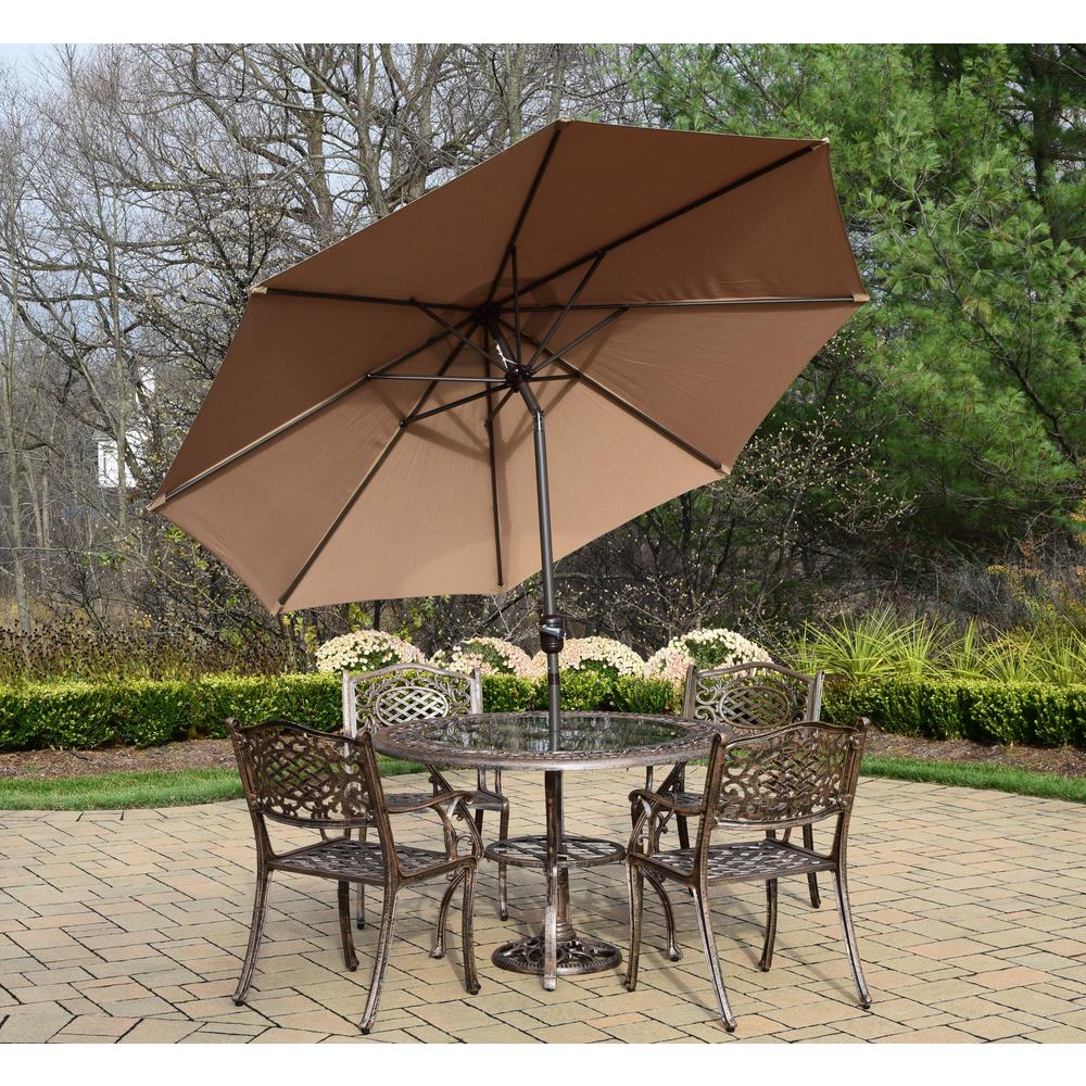 7-Piece Cast Aluminum Patio Dining Set with 48 in. Table 4
