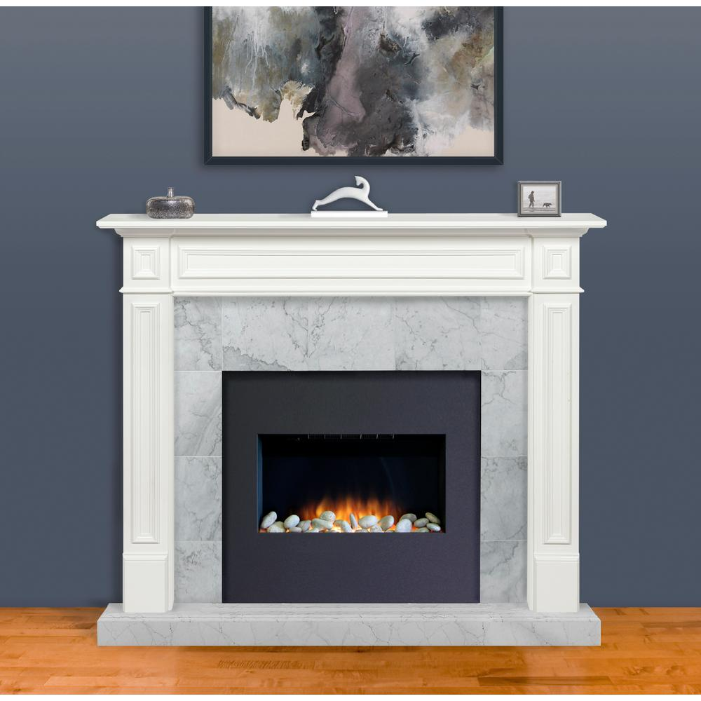 Pearl Mantels The Mike 60 In X 52 Mdf White Full Surround Mantel