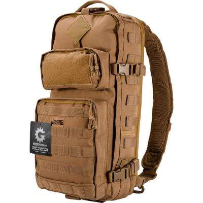 Loaded Gear GX-300 Medium 13 in. Dark Earth Ballistic Polyester Tactical Sling Backpack