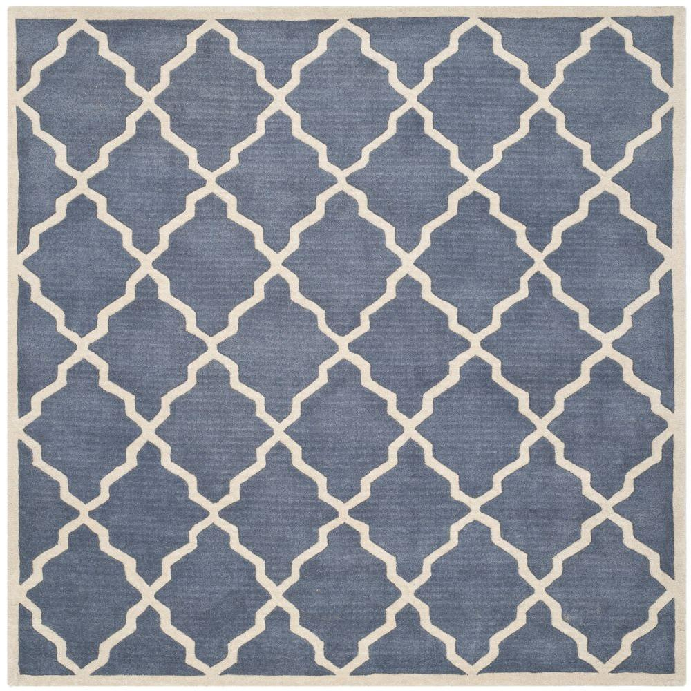 Chatham Grey 7 ft. x 7 ft. Square Area Rug