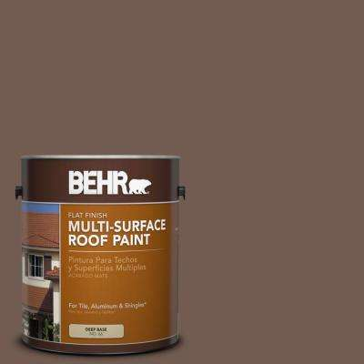 1 gal. #RP-30 Hickory Woods Flat Multi-Surface Roof Paint