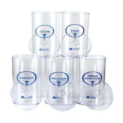 Sundry Jars in Clear Plastic (Set of 5)