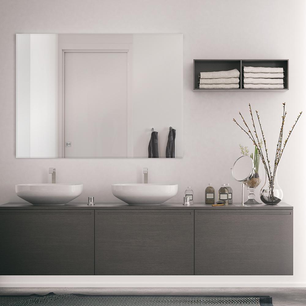 Glacier Bay 36 In W X 48 H, 36 X 48 Bathroom Mirror