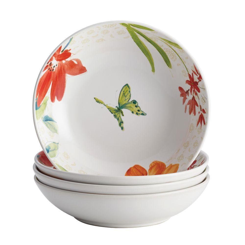 BonJour Dinnerware Al Fresco Porcelain Stoneware 4-Piece Fruit Bowl Set 51928