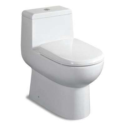 Acacia 1-piece 0.8/1.28 GPF Dual Flush Elongated Toilet in White Seat Included