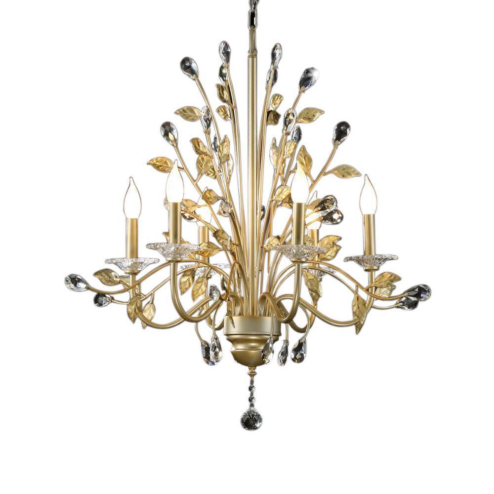 6light gold ceiling lamp